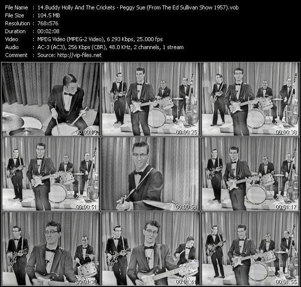 Buddy Holly And The Crickets HQ Videoclip «Peggy Sue (From The Ed Sullivan Show 1957)»