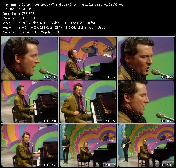 Jerry Lee Lewis HQ Videoclip «What'd I Say (From The Ed Sullivan Show 1969)»