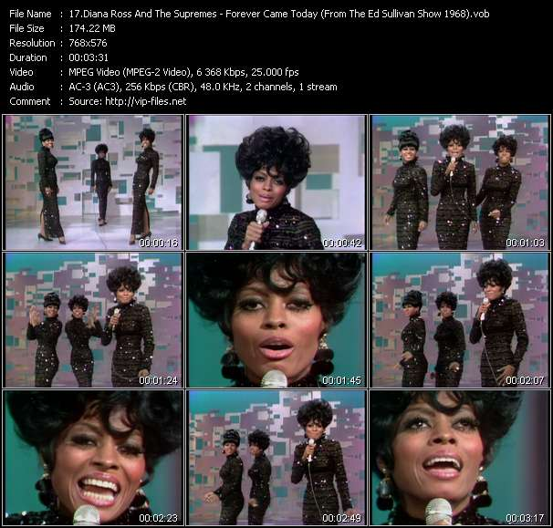 Diana Ross And The Supremes HQ Videoclip «Forever Came Today (From The Ed Sullivan Show 1968)»