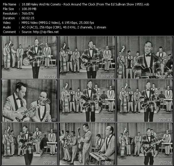 Bill Haley And His Comets HQ Videoclip «Rock Around The Clock (From The Ed Sullivan Show 1955)»