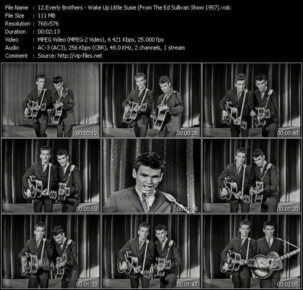 Everly Brothers video - Wake Up Little Susie (From The Ed Sullivan Show 1957)