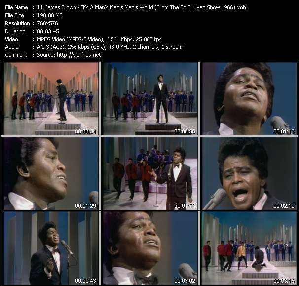 James Brown HQ Videoclip «It's A Man's Man's Man's World (From The Ed Sullivan Show 1966)»