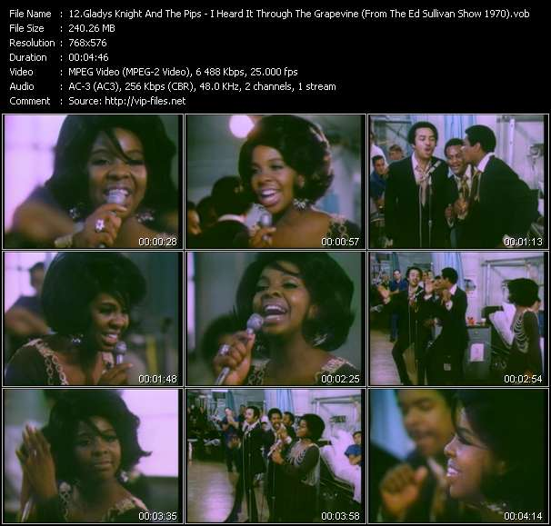 Gladys Knight And The Pips HQ Videoclip «I Heard It Through The Grapevine (From The Ed Sullivan Show 1970)»