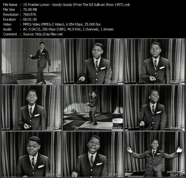 Frankie Lymon HQ Videoclip «Goody Goody (From The Ed Sullivan Show 1957)»