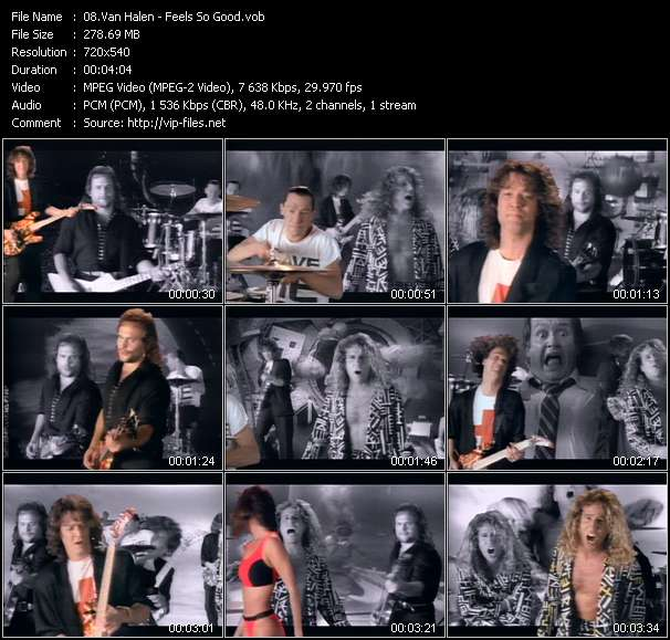 Van Halen video - Feels So Good