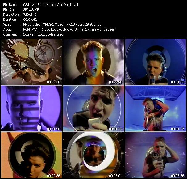 Nitzer Ebb HQ Videoclip «Hearts And Minds»