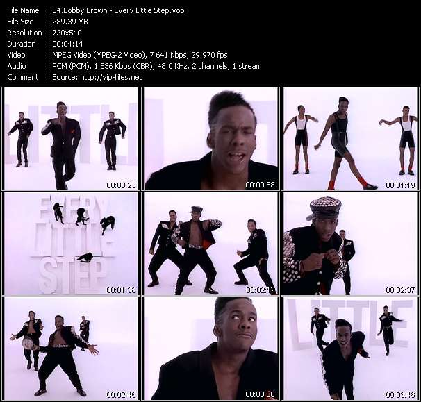 Bobby Brown HQ Videoclip «Every Little Step»