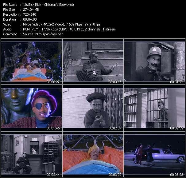 Slick Rick HQ Videoclip «Children's Story»