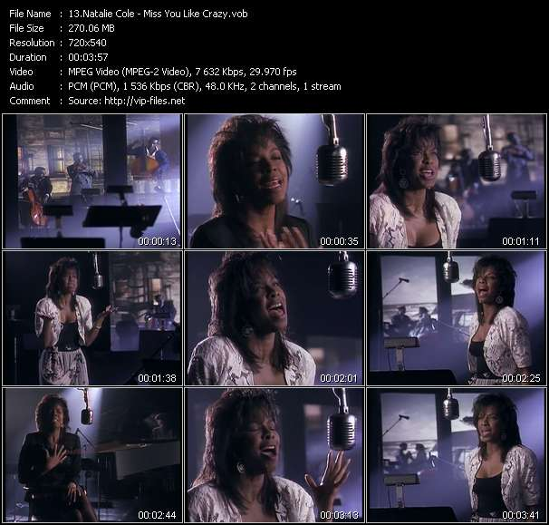 Natalie Cole HQ Videoclip «Miss You Like Crazy»