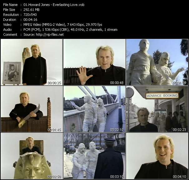 Howard Jones HQ Videoclip «Everlasting Love»