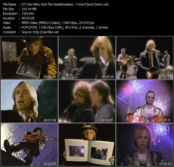 Tom Petty And The Heartbreakers video - I Won't Back Down