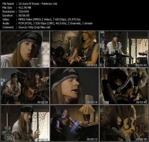 Guns N' Roses video - Patience
