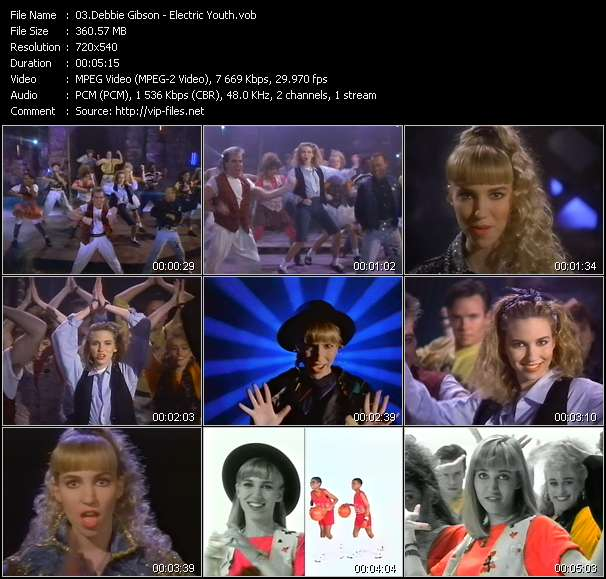 Debbie Gibson video - Electric Youth