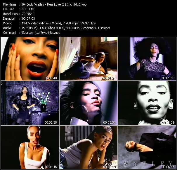 Jody Watley video - Real Love (12 Inch Mix)
