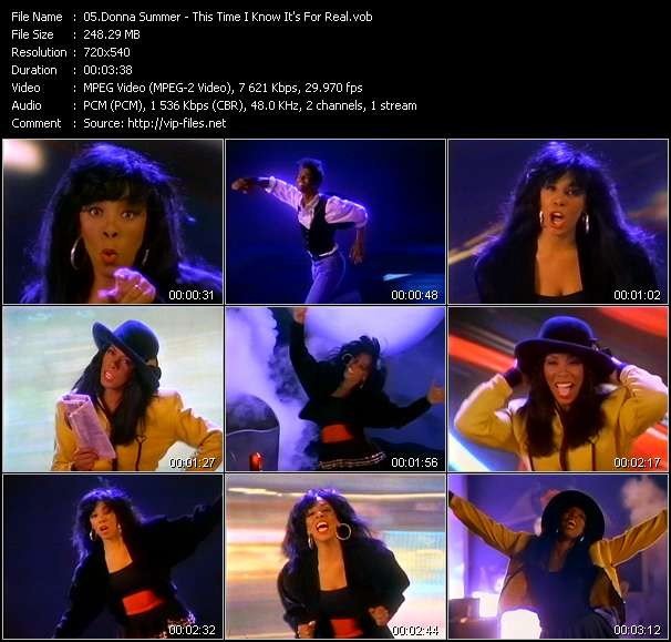 Donna Summer video - This Time I Know It's For Real