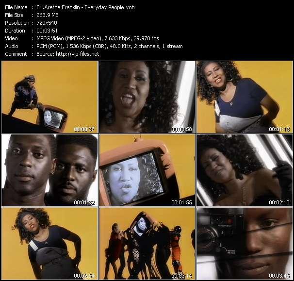 Aretha Franklin music video Filejoker