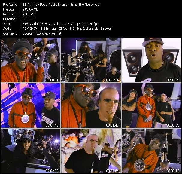 Anthrax Feat. Public Enemy video - Bring The Noise