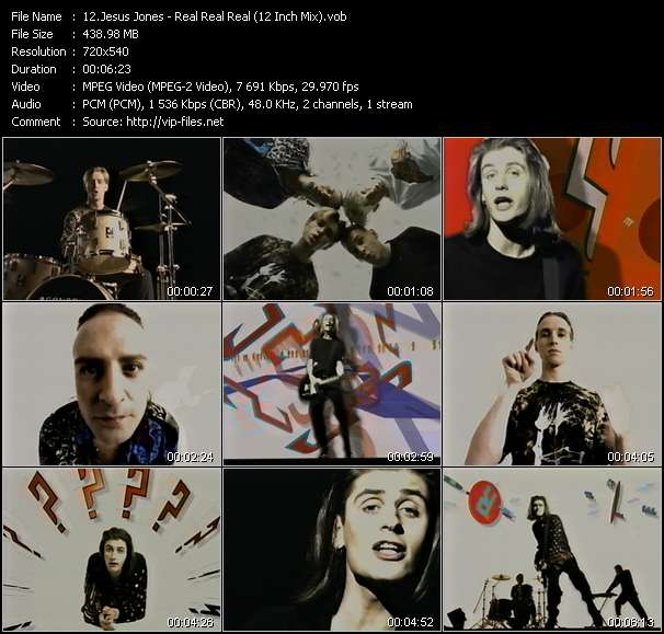 Jesus Jones HQ Videoclip «Real Real Real (12 Inch Mix)»