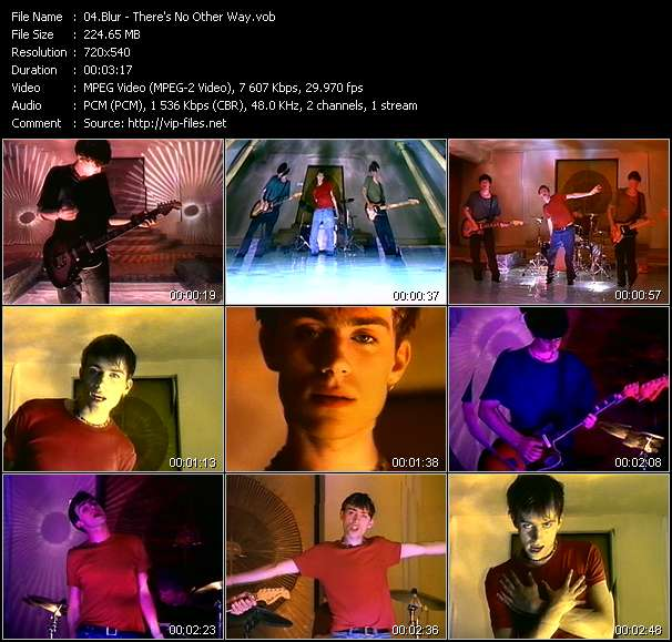 Blur HQ Videoclip «There's No Other Way»
