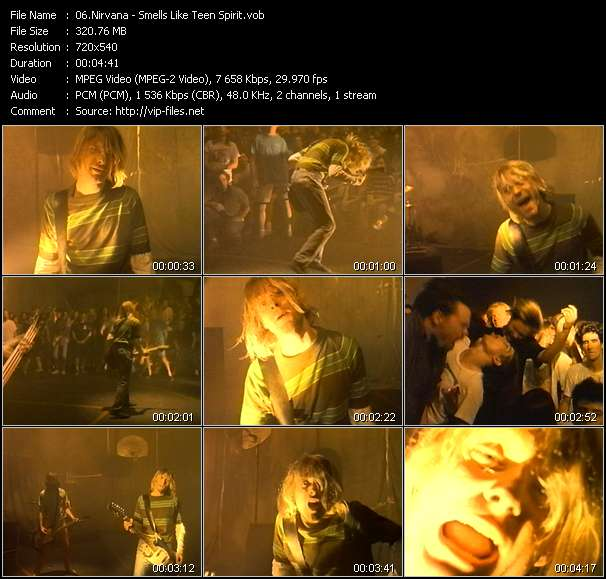 Nirvana HQ Videoclip «Smells Like Teen Spirit»