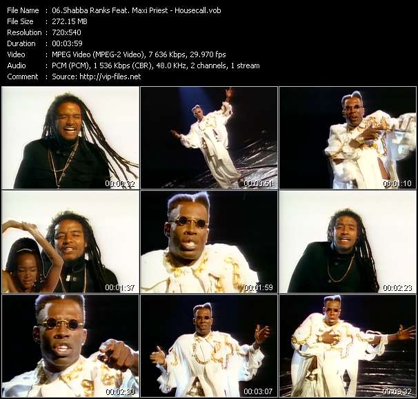 Shabba Ranks Feat. Maxi Priest video - Housecall