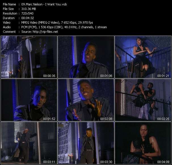 Marc Nelson video - I Want You