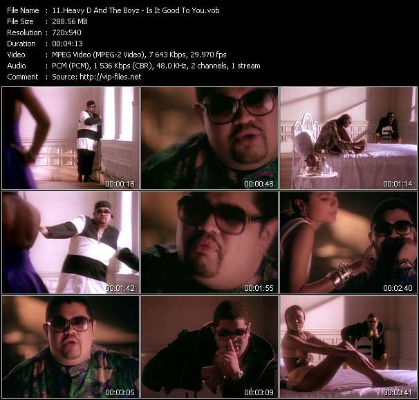Heavy D And The Boyz video - Is It Good To You