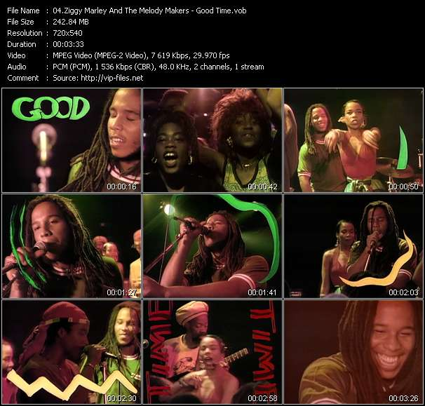 Ziggy Marley And The Melody Makers video - Good Time