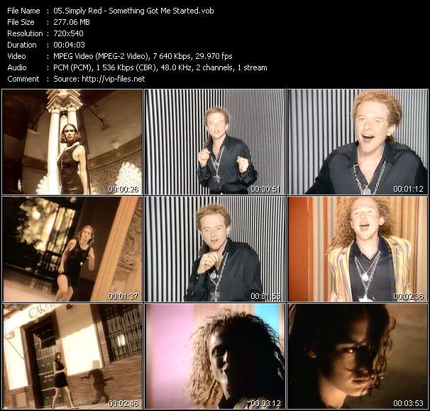 Simply Red video - Something Got Me Started