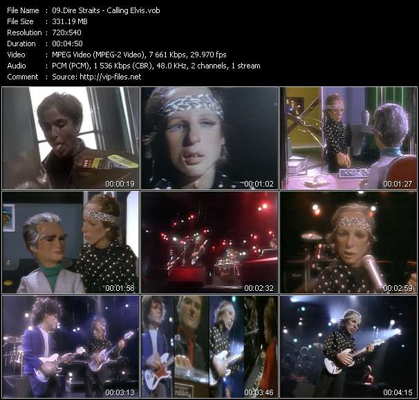 Dire Straits video - Calling Elvis
