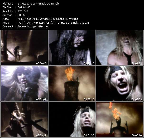 Motley Crue video - Primal Scream