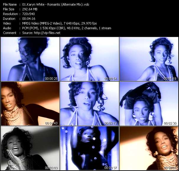 Karyn White video - Romantic (Alternate Mix)