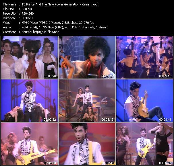 Prince And The New Power Generation video - Cream