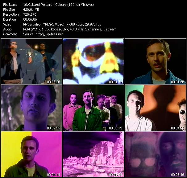 Cabaret Voltaire video - Colours (12 Inch Mix)
