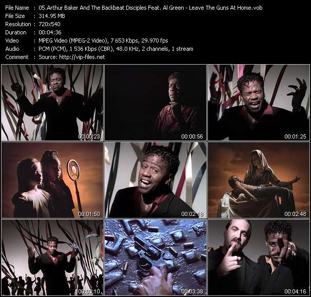 Arthur Baker And The Backbeat Disciples Feat. Al Green music video Filejoker