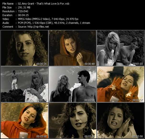 Amy Grant music video Filejoker
