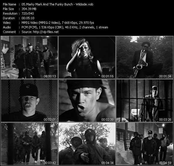 Marky Mark And The Funky Bunch video - Wildside