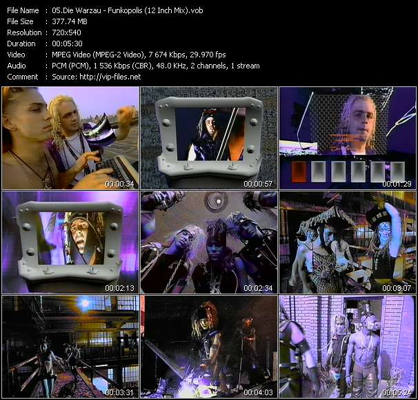 Die Warzau HQ Videoclip «Funkopolis (12 Inch Mix)»
