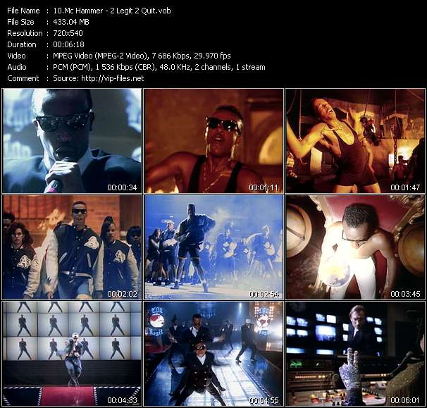 Mc Hammer video - 2 Legit 2 Quit