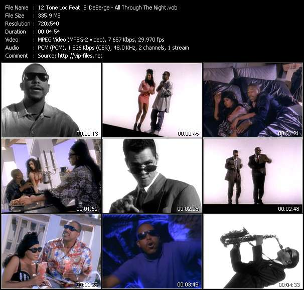 Tone Loc Feat. El DeBarge video - All Through The Night