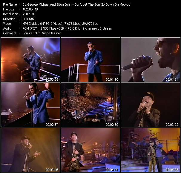 George Michael And Elton John video - Don't Let The Sun Go Down On Me