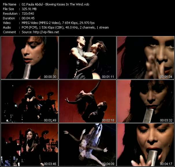 Paula Abdul video - Blowing Kisses In The Wind