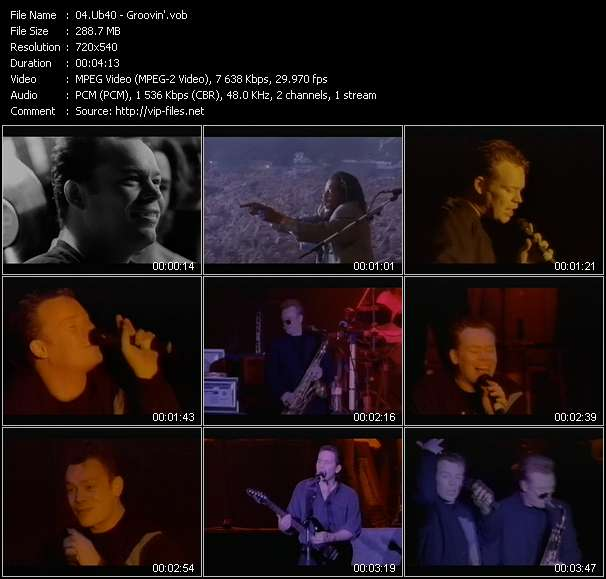 Ub40 video - Groovin'