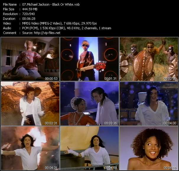 Michael Jackson video - Black Or White