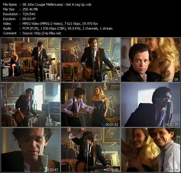 John Cougar Mellencamp video - Get A Leg Up