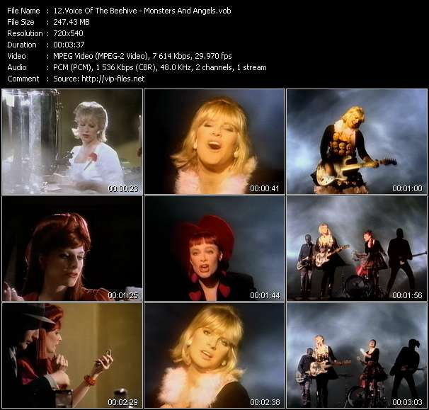 Voice Of The Beehive video - Monsters And Angels