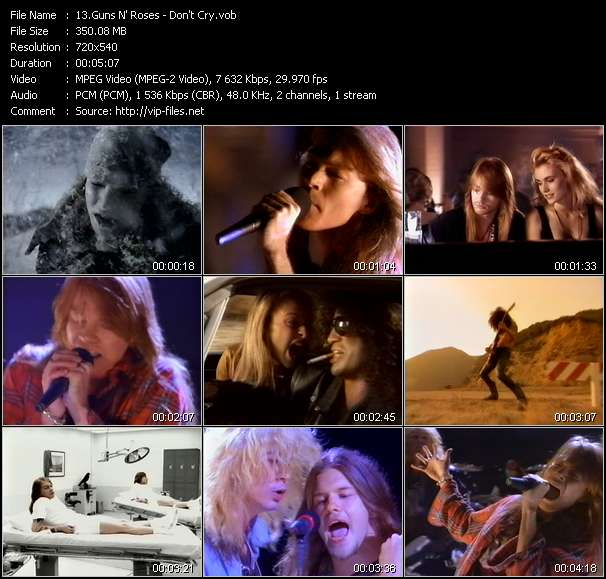 Guns N' Roses video - Don't Cry