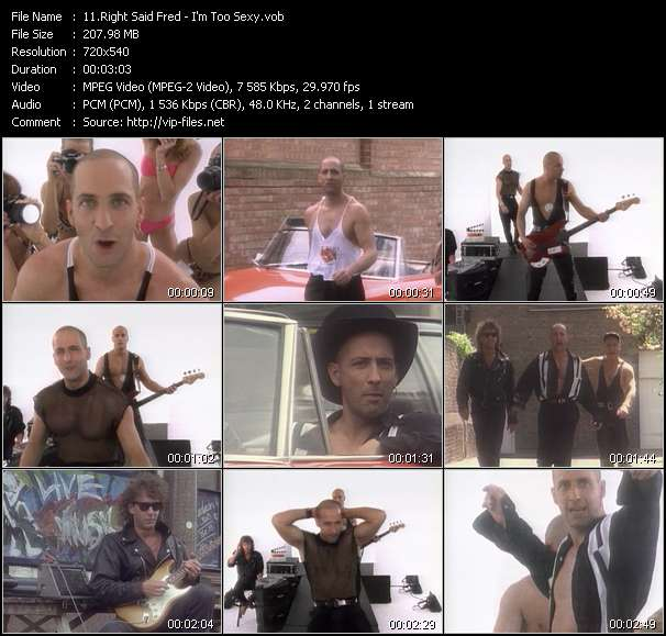 Right Said Fred music video Novafile