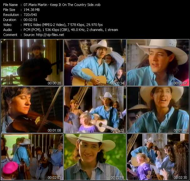 Mario Martin HQ Videoclip «Keep It On The Country Side»