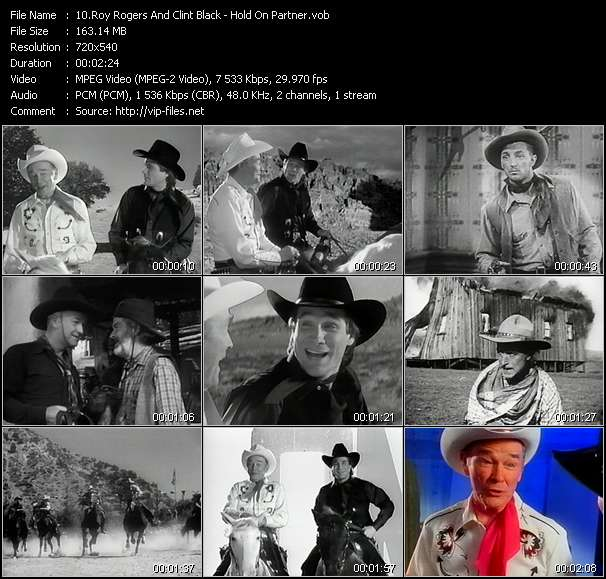 Roy Rogers And Clint Black HQ Videoclip «Hold On Partner»